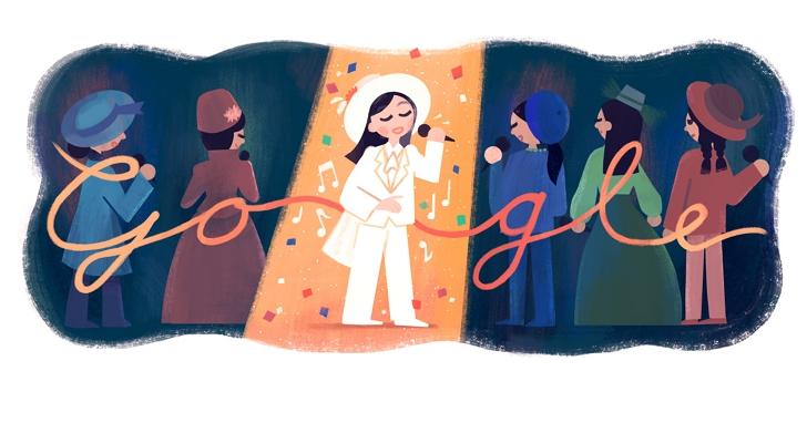 Google 首頁紀念「帽子歌后」鳳飛飛66歲冥誕