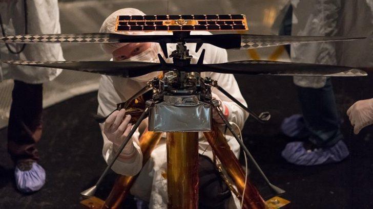 NASA發射到火星的無人車上載了一架無人機!第一架火星直升機將升空
