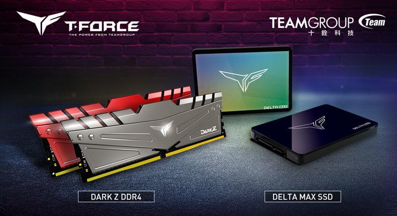 十銓科技T-FORCE 電競新品 火力全開 電競記憶體 DARK Z 及 DELTA MAX 幻鏡固態硬碟強勢登場