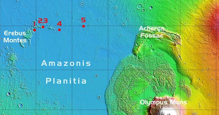 SpaceX可能已經開始選擇太空船在火星的登陸地點