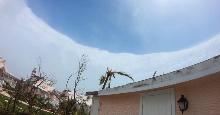 颱風眼底下真的是晴天!國外追風者拍下照片,颶風多利安連眼牆都清晰可見
