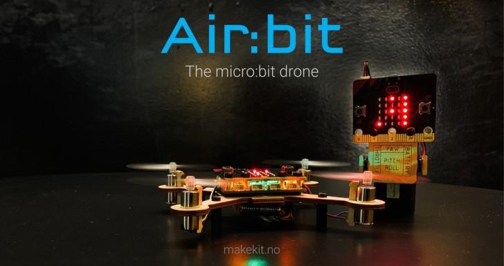 Air:bit超輕量土砲無人機套件,自己動手打造四軸無人飛行機
