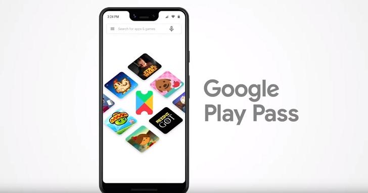 Google Play推訂閱制「Google Play Pass」,每月4.99美元、超過350款內容、可與五名家庭成員共享