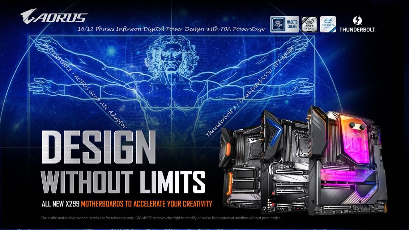 技嘉最新X299X系列主機板提供消費者最佳內容創造體驗