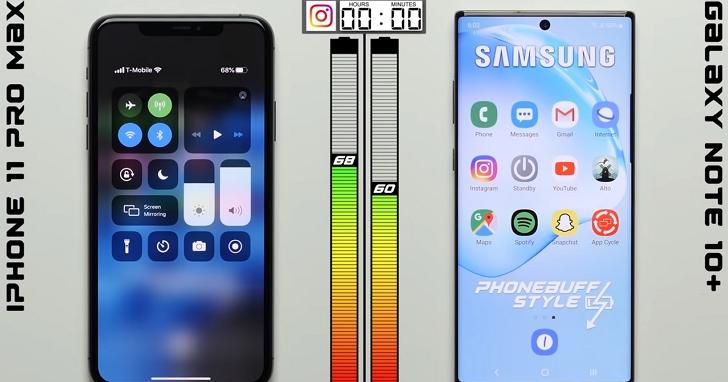 iPhone 11 Pro Max續航力測試,4000mAh的電池容量竟大勝Galaxy Note 10+的4300mAh
