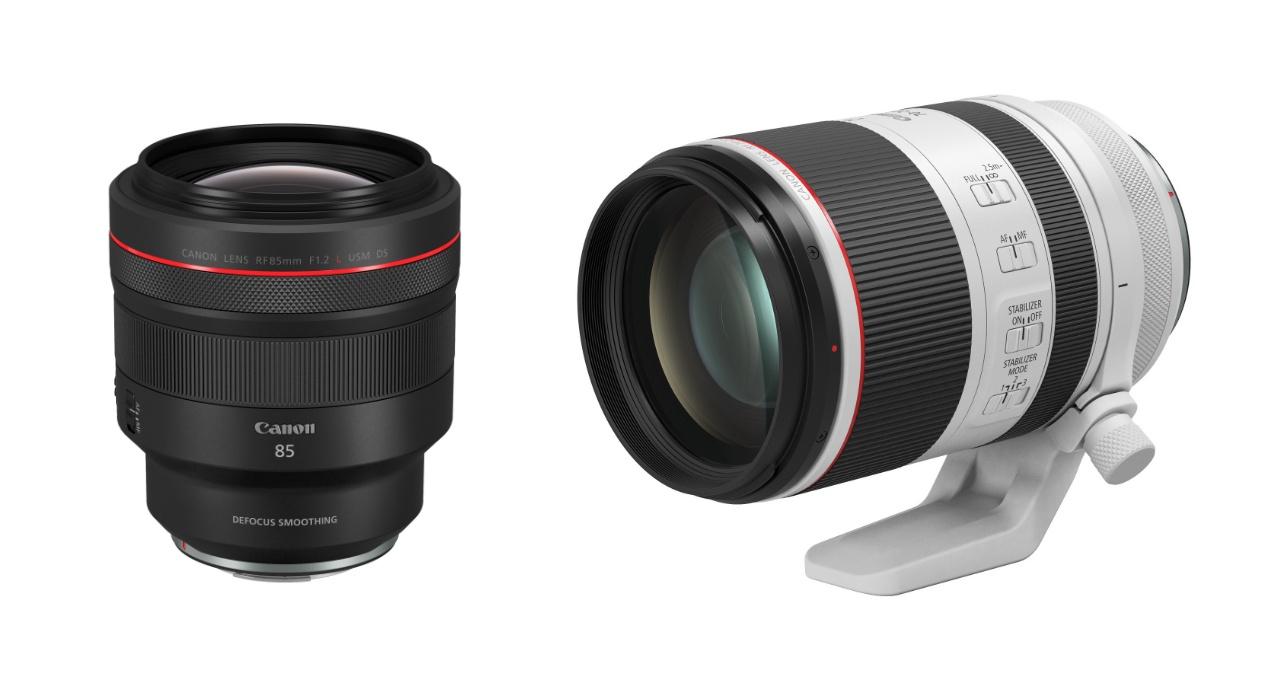 Canon 推出兩款 RF 望遠鏡頭:70-200mm F2.8L、85mm F1.2L,分別搭載輕量化技術與獨家 DS 鍍膜