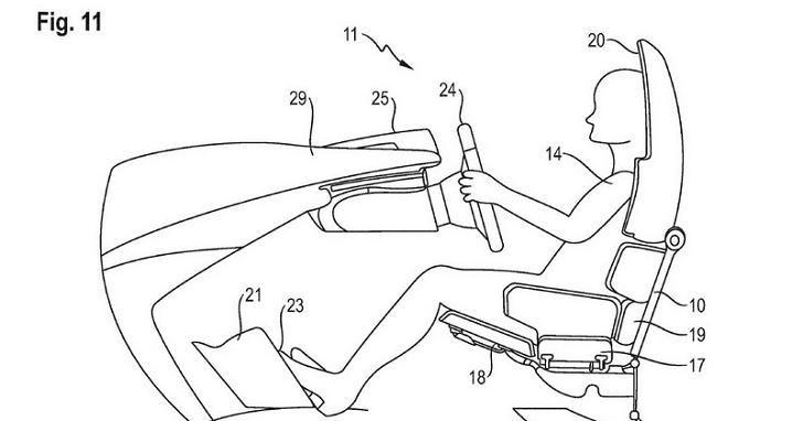 Porsche 曝光自駕車座椅專利,以後駕駛可以躺著開?!