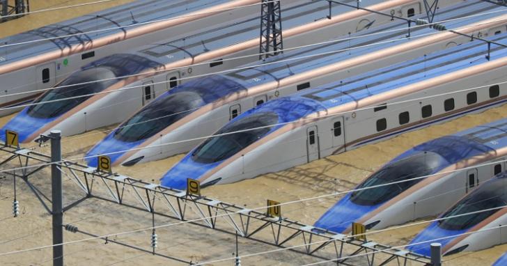 日本哈吉貝颱風泡水的10列新幹線列車全部報廢,損失近148億日圓