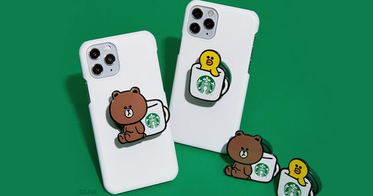 LINE Pay聯手星巴克推集點活動,免費換限量聯名熊大手機支架