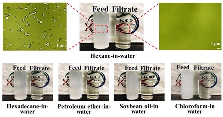 日本科學家研發可重複使用,能把油過濾只留下水的膜