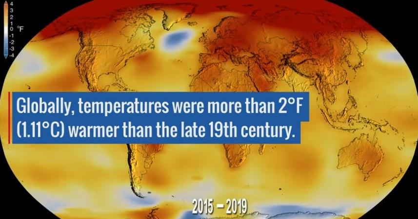 NASA:2019 年是有紀錄以來第二熱的一年