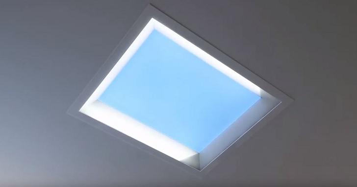 三菱開發出「LED 模擬天窗」,讓你在封閉的室內也能看見藍天