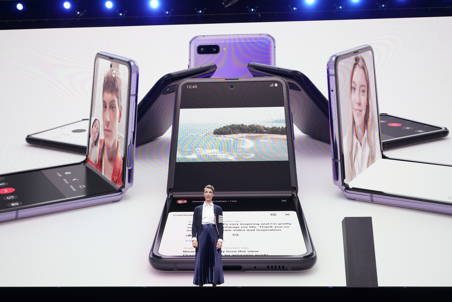 Samsung Galaxy Z Flip  掌中摺疊機,售價 1,380 美元、2/14 陸續上市