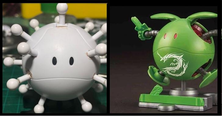武漢肺炎是在哈囉?香港模型玩家將鋼彈Haro 哈囉改裝「武漢哈囉」