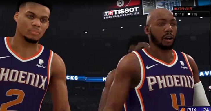 史上首次!NBA停賽後,鳳凰城太陽隊宣布他們在《NBA 2K》中打完剩餘賽季