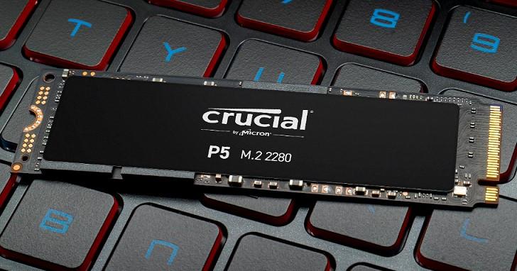 終於出現了!Micron Crucial P5 NVMe SSD 高速讀寫達 3400MB/s、3000MB/s