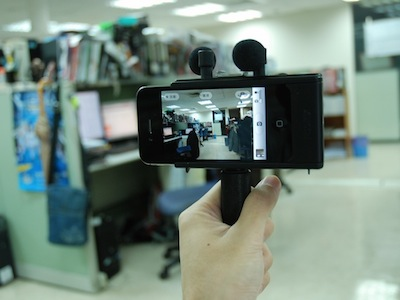 Fostex AR-4i:加強 iPhone 4 錄音效果的外掛座