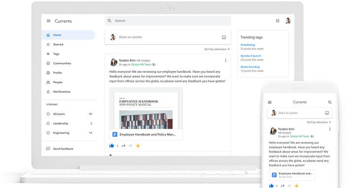 Google+ 繼承者 Google Currents 登場,不過初期僅開放給 G Suite 使用者
