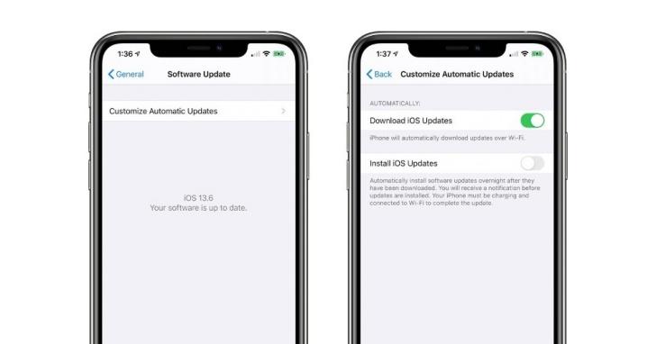蘋果 iOS13.6 Beta 2新功能曝光:未來 iPhone 用戶可決定是否要自動更新 iOS 新系統