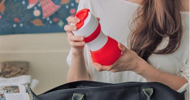博客來小編也賣「航空版折疊隨行杯」,網友讚:拿來泡杏仁茶味道很特別