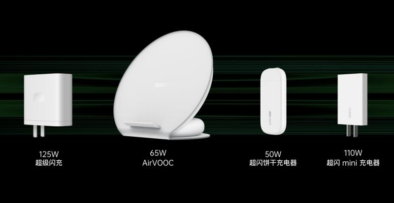 超過 100W 快充時代來了!OPPO 發表 125W 閃充充電器、65W 無線充電盤、50W 超薄充電器