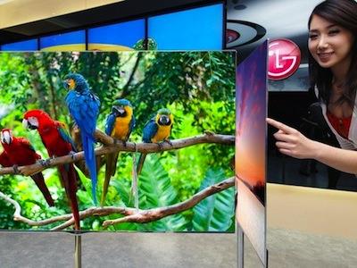 LG 拿出 84吋 4K電視、菜刀 OLED 電視參加 CES 2012