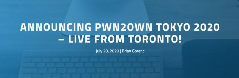 趨勢科技公布 2020 年 Pwn2Own Tokyo 駭客競賽起跑