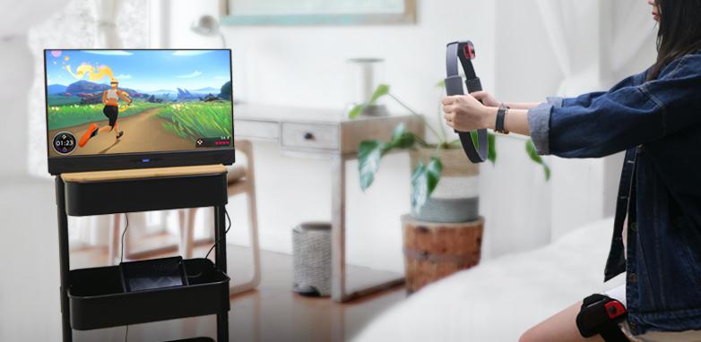 GeChic 推出21.5吋超大畫面行動螢幕,一線放大玩,還能充電任天堂Switch!