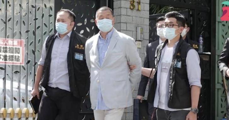 香港警方指「勾結外國勢力」依國安法逮捕黎智英及壹傳媒多名高層,黎智英表示蘋果日報前景不明