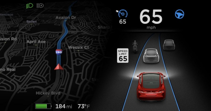特斯拉宣布更新自家 Autopilot 自駕軟體:透過內建光學鏡頭,自動偵測速限標誌與紅綠燈