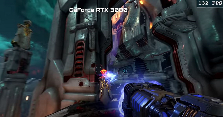 RTX 3080 碾壓 RTX 2080 Ti,4K 畫質《毀滅戰士:永恆》平均 120 FPS