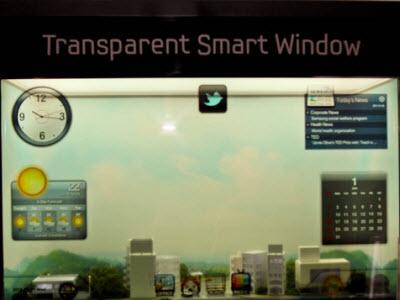 超炫!窗戶是透明觸控螢幕,Samsung 實機展出智慧窗戶