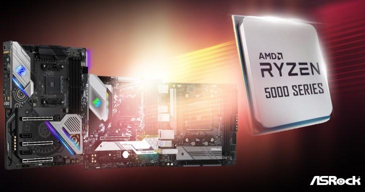 ASRock主機板更新BIOS支援Ryzen 5000系列處理器