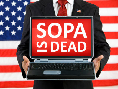 SOPA 法案死亡!提案的眾議員撤回,網路勢力重大勝利