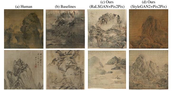 AI產生的中國山水畫!線條、筆觸騙過一半以上的人類觀察者