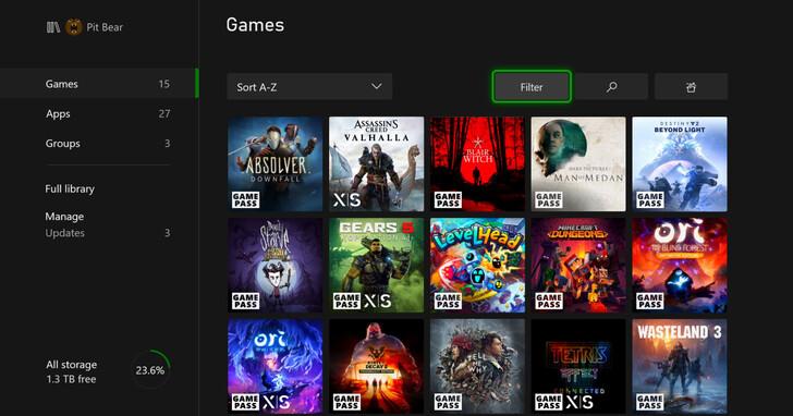 Xbox Series X/S 推送上市後首個大型更新,增加預載遊戲功能