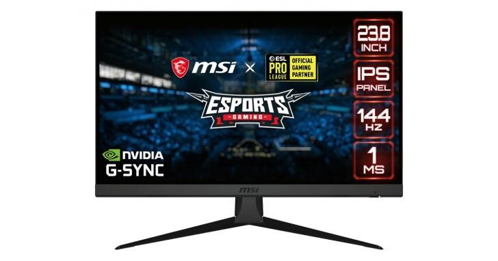 Msi Optix G242電競螢幕,144Hz IPS面板支援FreeSync與G-Sync
