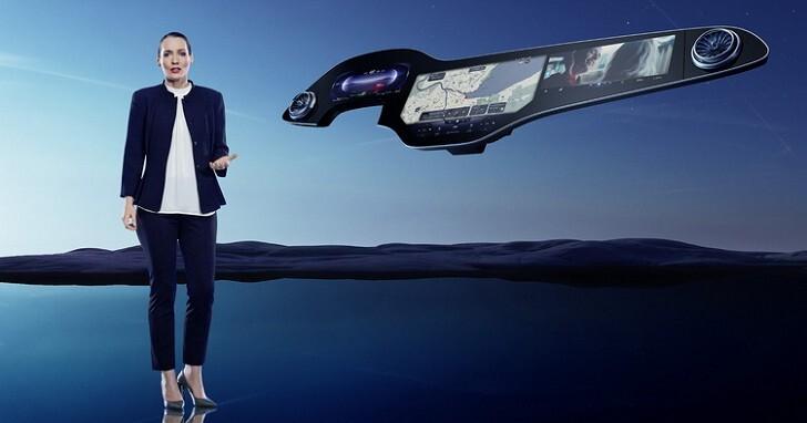 數位座艙概念再突破,M-BENZ 推出 MBUX Hyperscreen 讓汽車中控台全都是螢幕