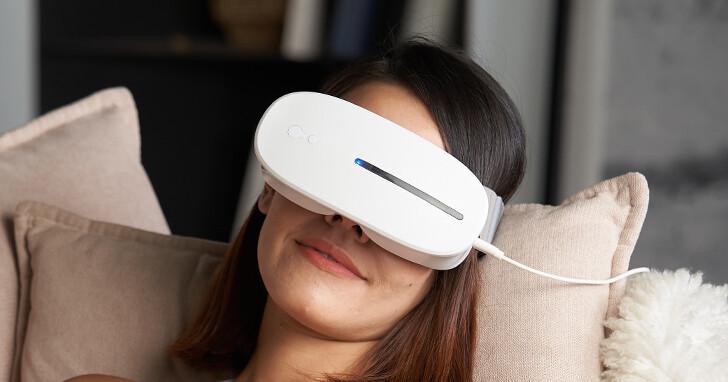 【限時團購優惠】AURAI 酷熱敷水波式按摩眼罩,冷敷熱敷一機搞定