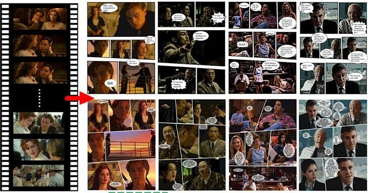 一鍵把《鐵達尼號》電影變成漫畫!全自動漫畫產生系統能讓任何電影及影集變漫畫