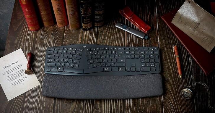 羅技推出 ERGO K860 人體工學鍵盤,通過美國人體工學協會認證,可提升 54% 腕部支撐