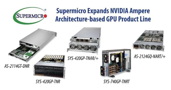 Supermicro擴大企業級AI適用的NVIDIA Ampere架構GPU產品系列