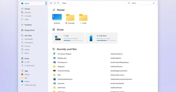 他把 Windows 檔案總管重新設計,成果好到網友希望微軟照抄