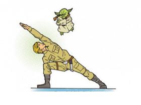 星際大戰黑武士、尤達大師教你做瑜伽、玩音樂