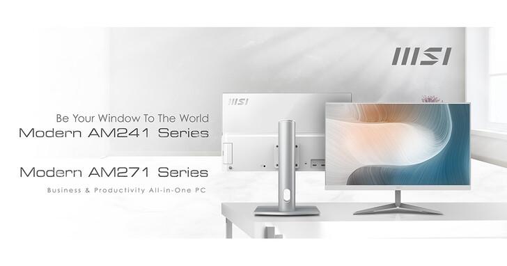 微星Modern系列24 /27吋上市,輕薄一體成型、商用文書專用