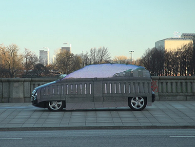 隱形車真實上演,賓士宣傳「無存在感」燃料電池電動車