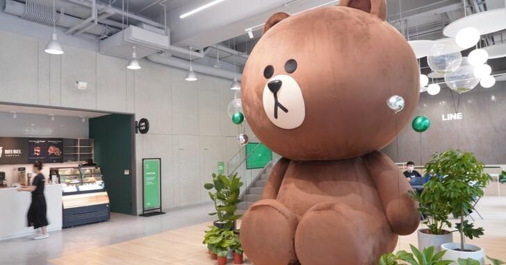LINE 內湖新辦公室開箱:4公尺高熊大玩偶,綠能創意辦公室、專業攝影棚首次公開