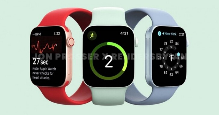 新一代Apple Watch 7算繪圖曝光,設計大改提供更多新顏色