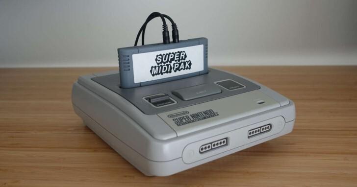 Super Midi Pak把超任主機變成音效合成器,讓你演奏遊戲風格樂曲