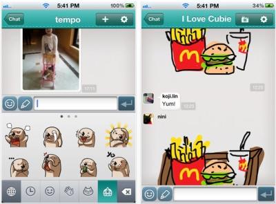 Cubie Messenger 爆紅,同時享受 Line、Draw Something 的樂趣